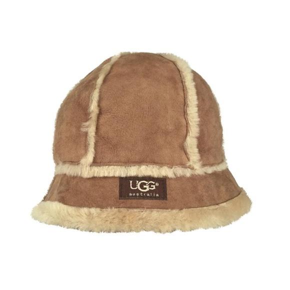 4e18e96f1 UGG Australia Shearling Bucket Hat Chestnut O/S